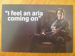 Postcard / Promotion Advertising Card...mozart's Don Giovanni...aria..2015