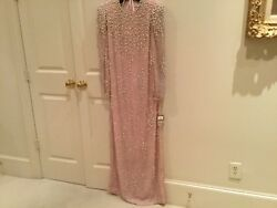 Pink Evening Gown embellished with Pearls by Victoria Royal $700.00