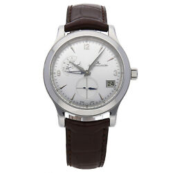 Jaeger-LeCoultre Master Control Hometime Steel Auto Strap Mens Watch Q1628420