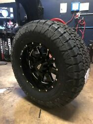18x10 Moto Metal Mo962 35 Amp At Wheel And Tire Package 5x150 Fits Toyota Tundra