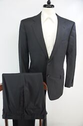 Recent  Navy Blue Pinstripe Wool Suit 52r 42r Italy
