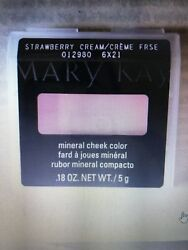(2) Mary Kay STRAWBERRY CREAM Mineral Cheek Color Blush Discontinued Retired