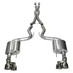 Corsa 15-16 Ford Mustang Gt 5.0 3in Cat Back Exhaust Polish Quad Tips Xtreme