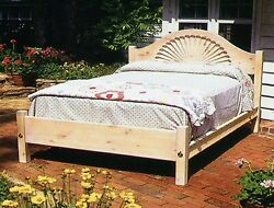 Santa Fe Shell Bed King Size Usa Hand Made Reproduction Solid Pine