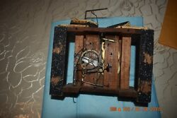 Antique Black Forest Cuckoo Wooden Plates Clock Movement Beha For Parts