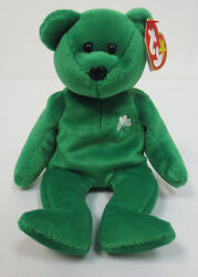 BEANIE BABY ERIN GREEN BEAR BABIES 1997 COLLECTION RARE COLLECTORS TY TOY CUTE
