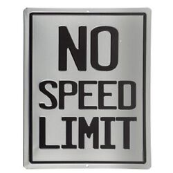 Vintage Style No Speed Limit Metal Signs Man Cave Garage Decor Gas Station