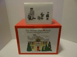 Dept 56 Ronald Mcdonald House 1998 Limited Edition Kids Candy Canes Figurines