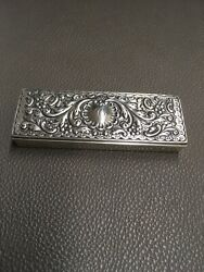 Theodore B Starr Antique Monogrammed C Sterling Silver Stamp Box