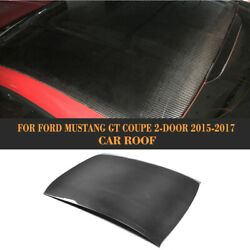 Car Roof Top Cover Carbon Fiber Fit For Ford Mustang Coupe 2D 2015-2017 Factory