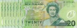 New Zealand - 20 - 6 Consecutive Polymer Notes - Wheeler And039type 1and039 - Ab14198985-