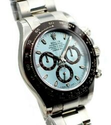 MENS ROLEX DAYTONA PLATINUM NEW WATCH WITH BLUE  DIAL & CERAMIC BEZEL 116506