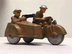 Vintage Barclay Military Motorcycle And Sidecar