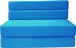Queen Size Folding Foam Mattress Sofa Chair Bed RV Mattresses 6x60x80 Turquoise
