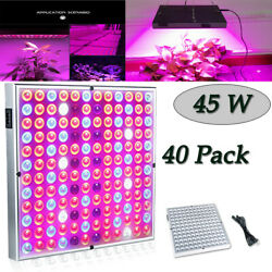 40x45W LED Hydroponic Plant Grow Light Bulb Lamp Lighting Plants Planting Growth