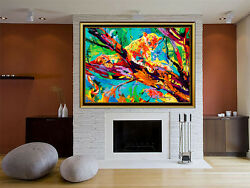LeRoy Neiman Serengeti Leopard Original Woven TAPESTRY HAND Signed Painting Art