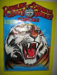 Vintage Ringling Bros. And Barnum And Bailey Circus Poster Circa 1982 Near Mint