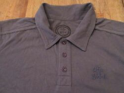 Life Is Good Embroidered Logo Gray Ss Polo Shirt Size S