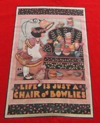 Vintage Life Is Just A Chair Of Bowlies Classic Book Cover T Shirt Size Xl
