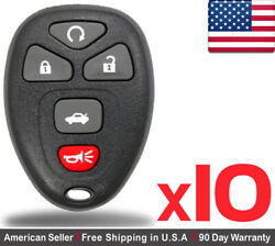 10 New Replacement Remote Control Key Fob For Chevy Buick Cadillac Ouc60221