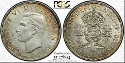 1938 Great Britain S4081 2 Shillings Florin Pcgs Au58 Only 4 Graded Higher Toned
