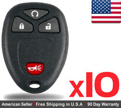 10x New Replacement Remote Key Fob For Cadillac Chevrolet Gmc Buick Ouc60221