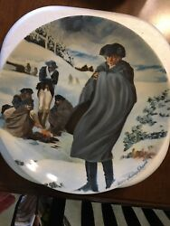 Limited Edition American Bi-centennial Plate. George Washington Valley Forge.
