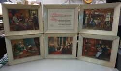 A History Of Pharmacy In Pictures By Parke Davis And Co. Set Of 6