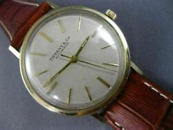 Antique Large And Co. 14k Yellow Gold 3d Automatic Round Mens Watch 26095