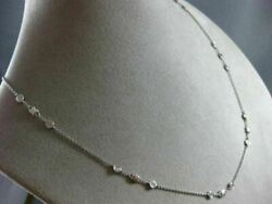 Estate 1.50ct Diamond 18kt White Gold 3d Classic By The Yard Flower Fun Necklace