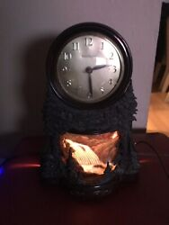 Vintage Mastercrafters Animated Motion Waterfall Clock Model 344 For Parts