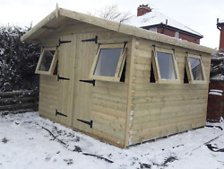 10and039x10and039 Tanalised 13mm Tandg Shiplap Shed Apex Roof/canopy/extraand039s/free Del 20mile