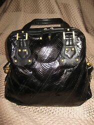GENUINE BLACK PYTHON DESIGNER BAG BY CHRISTIAN LACROIX