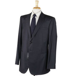 Nwt 2795 Giorgio Armani Slim 'taylor' Solid Charcoal Wool-cashmere Suit 46 L