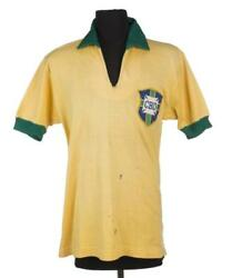 Brazil 60s Match Worn Football Jersey Shirt - Brasil Camisa - #6 Marco Antonio