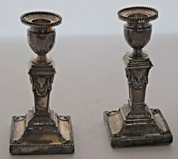 Antiques Rams Head Sterling Silver Candle Sticks Holders Ornate Unique And Unusual