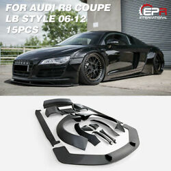 FRP Unpainted LB Walk Style Wide Body Full Body Kits For 06-12 Audi R8 V8 Coupe