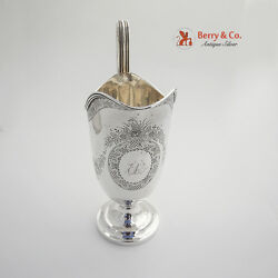 Antique Large Creamer Sterling Silver J C Moore And Son 1860