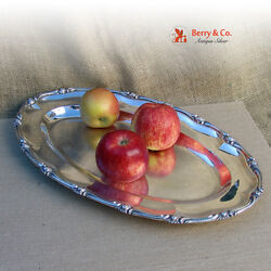 Floral Wave Edge Large Oval Serving Tray Continental Silver 1790