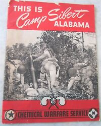 This Is Camp Sibert Alabama Chemical Warfare Service 30 Page Booklet Pictures