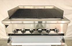 """36"""" Gas Char Broiler And Stand Heavy Duty Grill 3' Natural Or Propane Radiant"""