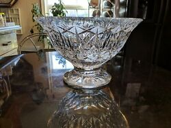 Rare And Incredible Antique Cut Glass Punch Bowl