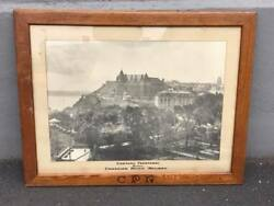 Antique Chateau Frontenac Quebec Canadian Pacific Railway Framed Photo