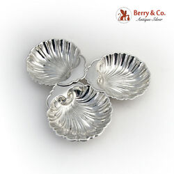 Shell Bowls Nut Cup Set Of 4 Sterling Silver Gorham