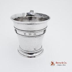 Arts And Crafts Hammered Sterling Silver Cup 1920 Reese