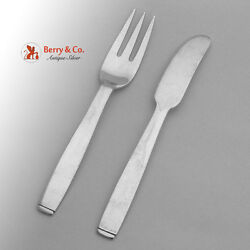 Porter Blanchard Oslo Youth Fork Knife Hand Made 1940 Sterling Silver