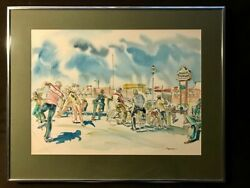 Rare Vintage 1979 Watercolor By Californian Artist Don Spencer Signed