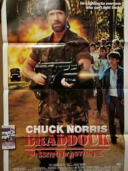 Chuck Norris Jsa Hand Signed Full Size Poster Braddock Missing In Action