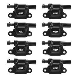 Msd 826583 Msd Ignition Coil 1999-2009 Gm L-series Truck Engines Black 8-pack