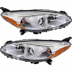 Headlight Set For 2012-2013 Mazda 5 Driver and Passenger Side w bulb